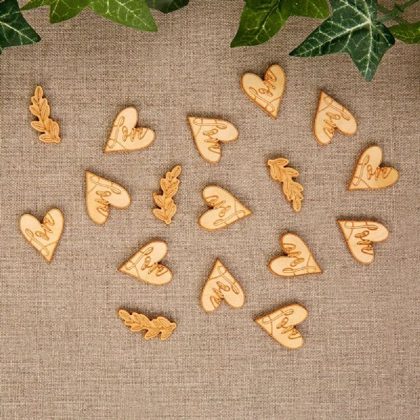Hearts & Krafts Wooden Table Confetti